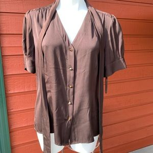 ANTONIO MELANI Tops - NWT Antonio Melani Brown Blouse